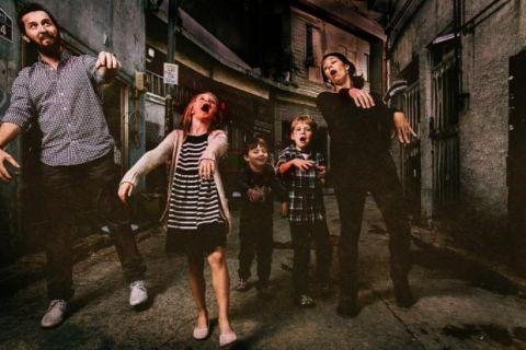 Funny Zombie Family Photo