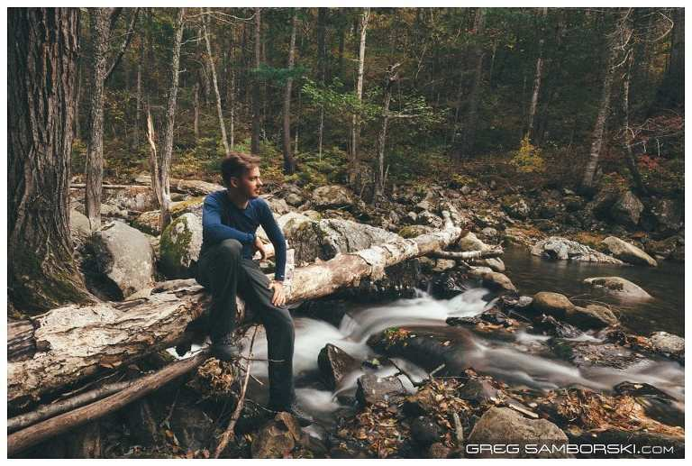 Greg Sitting on Old Tree