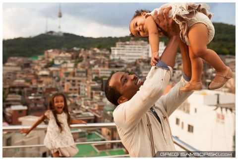 Seoul Family Photographer Itaewon Namsan Rooftop