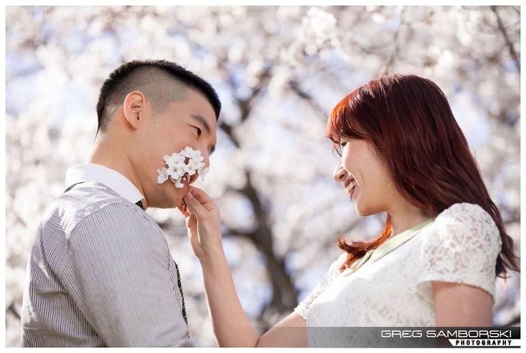 Seoul Korea Cherry Blossom Engagement Photography
