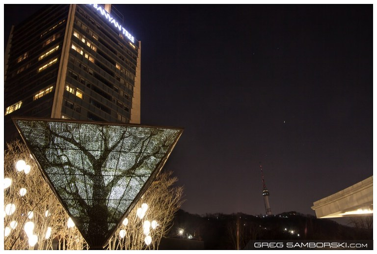 Banyan Tree Hotel and Spa Seoul Korea Night View