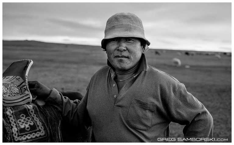 Mongolian Man with Horse