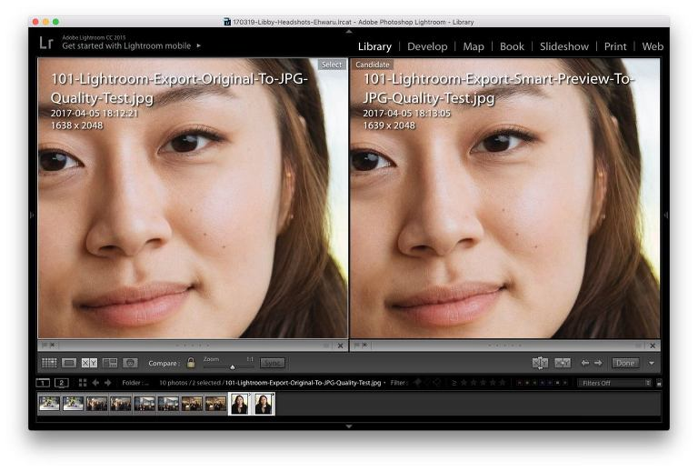 what are smart previews lightroom