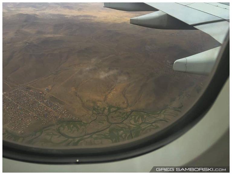Arial view of Ulaanbaatar Mongolia